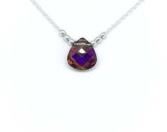Beautiful choker necklace in Silver 925/1000 and Swarovski volcano.