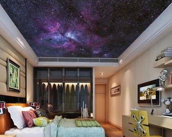 Galaxy wall mural, ceiling stars, nebula ceiling, ceiling galaxy, STAR wallpaper, space star wall mural, nebula wallpaper, ceiling