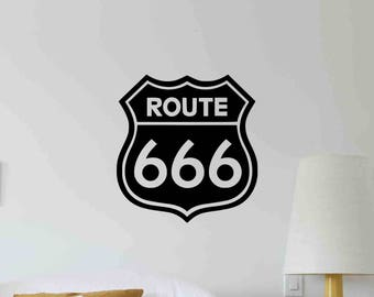 Route Wall Decal Etsy - Custom vinyl wall decals for garage