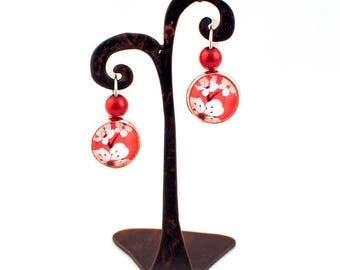 Gem - Stud Earrings - Cherry Blossom