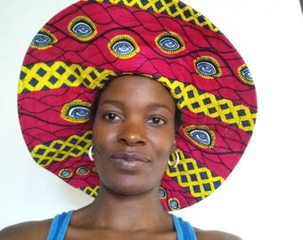 African Prints sun hat, Ankara bucket hat, chitenge sun hat