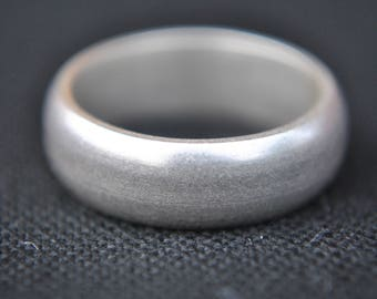 Handmade D shape Sterling Silver Ring UK Size-I Half London Hallmarked
