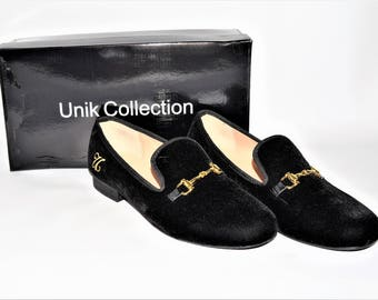 Black Luxurious Velvet Loafers