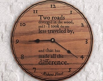 Road Less Traveled Quote - Two Roads Diverged In The Wood, and I Took The One Less Traveled By Quote - Motivational - Robert Frost Quote