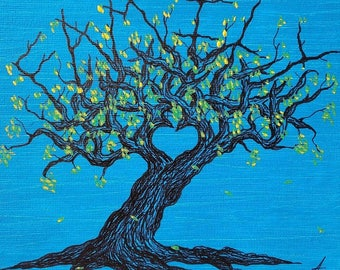 Love Trees- Original canvases (sizes vary) created with Ink and Acrylic Paint , Prints available