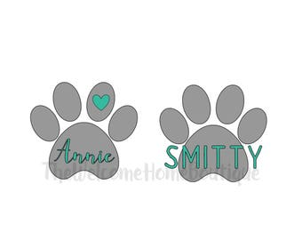 Paw Print Decal, Pet Lover Decal, Pet Decal, paw print with heart decal