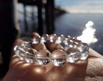 10mm Clear Quartz Bracelet