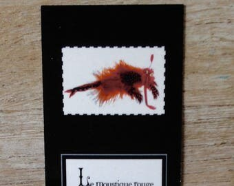 Bookmark with poem and Red mosquito