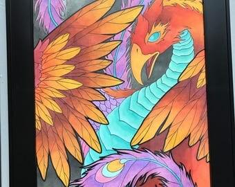Hand Painted Phoenix