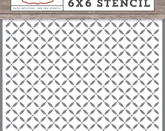 Christmas Delivery Lattice Stencil- Carta Bella Paper