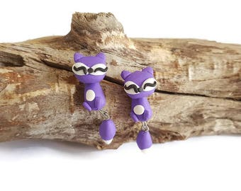 Purple Fox earrings