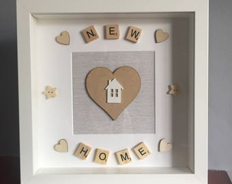 New Home Frame, new home gift, first home gift, personalised home gift, personalised new home gift, First house gift, new house gift,