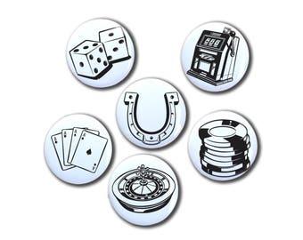 Las Vegas Casino Magnet Set | Destination Wedding | Las Vegas Gambler | Gambling Magnets | Las Vegas Elopement | Vegas Wedding Favor