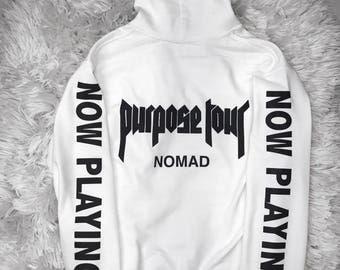 Purpose Tour Nomad Canada Hoodie Merch Justin Bieber
