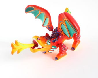Wooden Red Dragon