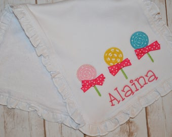 3 Lollipops Burp Cloth- Portion of sales donated to Cure SMA