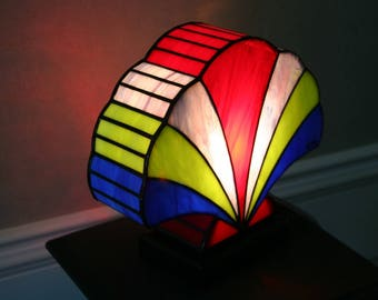 Lamp Art Deco stained glass Tiffany Shell 2