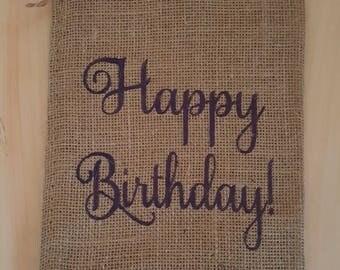 Burlap Bag, Happy Birthday! Burlap Bags, Burlap Gift Bags, Goodie Bags, Party Bags, Birthday Bags, Birthday Party Bags, Birthday Decor