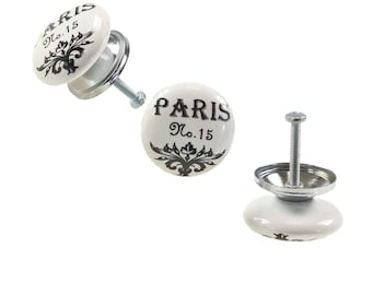 1 furniture knob furniture handle, furniture knob, knob ceramic 37 mm, Paris no. 15 #0160