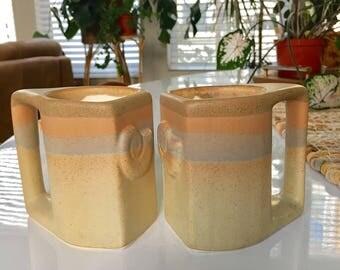 Padilla mugs / Seashell mugs /  Seashell pottery mugs /Stoneware mugs