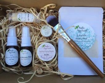 Facial Pamper Pack Set, Facial Products, Natural Skincare, Natural Skincare Pack, Vegan Skincare