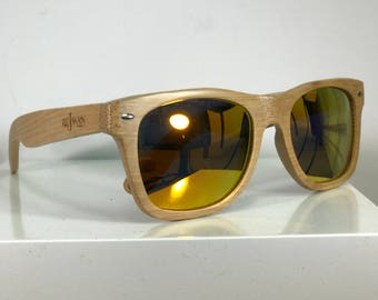 Wayfarer Bamboo Handmade Sunglasses/Wood sunglasses/men and woman sunglasses