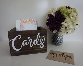 Rustic Card Box Wedding Wooden Bridal Shower