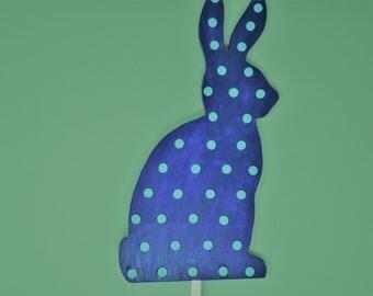 Polka Dot Silhouette Bunnies