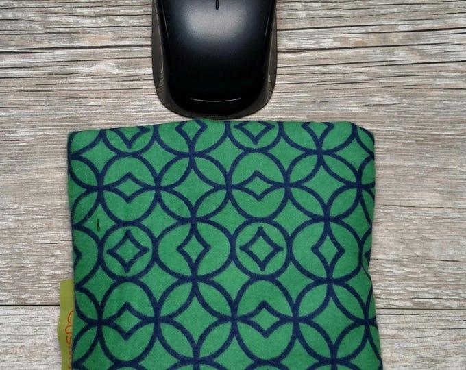 Green geometric  Computer Wrist rest, Natural organic comfort, stand up desk