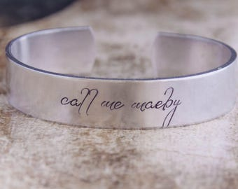 Call Me Maeby / Arrested Development Jewelry / Arrested Development Gift / Nerdy Gift / Nerdy Jewelry / Geeky Gift / Geeky Jewelry