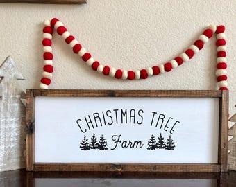 Christmas Tree Farm wood Sign
