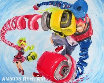 Nintendo ARMS painting - print