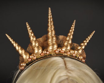 "Mermaid Crown: ""Triton"" / Shell Crown / Mermaid Headpiece / Shells / Adult Costume Accessories"