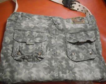 """bag """"creeks"""" Unisex khaki camouflage cotton fully lined"""