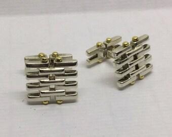 TIFFANY & CO sterling silver 18k  cufflinks #145