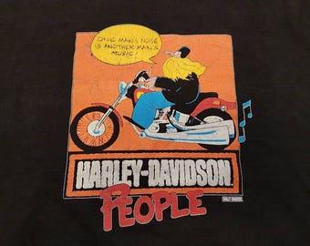 Vintage Harley Davidson Shirt, 80s Harley Davidson Shirt, Size XL