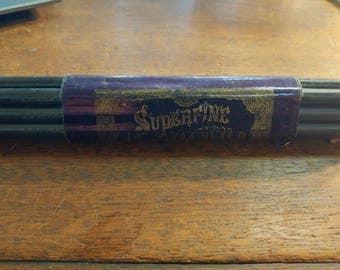 Bundle of 12 Mid-1800s Superfine Lead Pencils with Original Paper Label N.P. Stockbridge No. 2