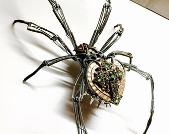 Black widow spider steampunk