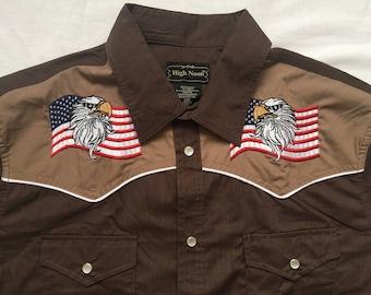 Vintage  USA Flag western shirt-cowboy