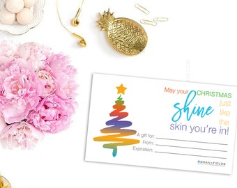 Rodan + Fields Gift Certificate Business Card - Christmas Giftcard - PC Perks - RF Gifts