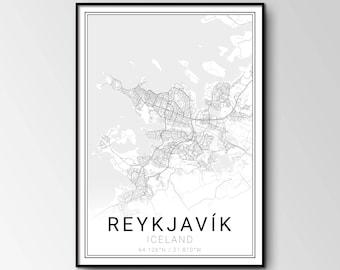 Reykjavík city map