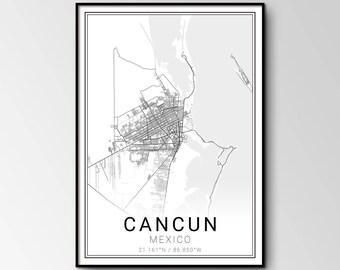 Cancun city map