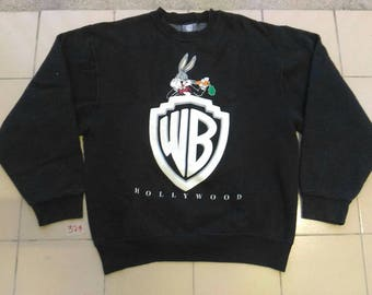 Vintage WB WARNER BROS Inc. Hollywood / Full Print Logo / Sweatshirt