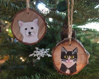 CUSTOM Painted Pet Ornaments