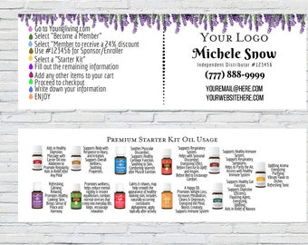 Lavender Business Card/Bookmark   Personalized Business Card, Lavender Business Card, YL Calling Cards, YL Business Tools, Oil Usage Card