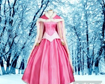 Sleeping Beauty Gown and cape, wedding dress