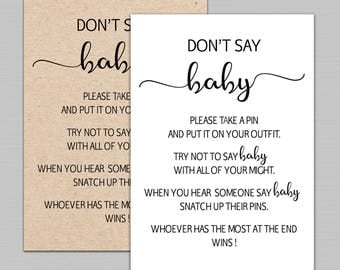 Breathtaking image throughout free don't say baby printable