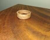 5th Wedding Anniversary: Men's Wooden Ring