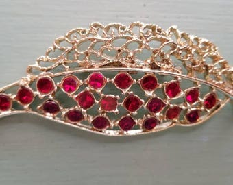 Estate Juliana D & E Style Leaf Brooch