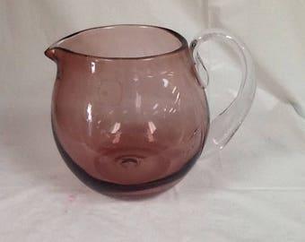 Blenko Glass 3750L pitcher in dusty rose